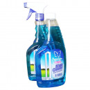 grossiste Nettoyage: Liquid Glass  Cleaner BLEU 550 ml + 550 ml