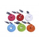 flat usb cable 1m  - mix colors assorted - 24 pcs