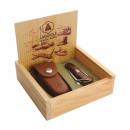 wholesale Cutlery: box Laguiole knife  marine / Case sauveterre