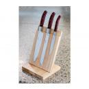 groothandel Bestek: 3 Laguiole keuken  messen op houten steun