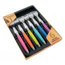 wholesale Cutlery: Laguiole fork  plastic handle soustons 6 pc