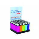 Lighter has stone  fluorescent colors with barcode