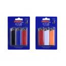 wholesale Bags & Travel accessories: lighters dff01  plain color - 3 pcs per blister