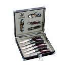 box Laguiole:  corkscrew (4) knives / Tire-