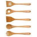 grossiste Ustensiles de Cuisine: accessoires de  cuisine laguiole en bamboo 5pcs et