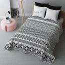 Großhandel Bettwäsche & Matratzen: Tagesdecke Black & White 220 x 240