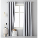 groothandel Vitrage & Gordijnen: Gordijn Aura 140 x 250 Light Grey
