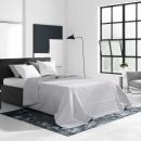 Großhandel Bettwäsche & Matratzen: Tagesdecke Bueno  Pastel Grey 220 x 240