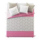 Großhandel Bettwäsche & Matratzen: Tagesdecke Crossy Pink 220 x 240