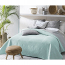 wholesale Bedlinen & Mattresses: Bedspread Bueno Mint & Light Grey 220 x 240