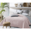 wholesale Bedlinen & Mattresses: Bedspread Bueno Powder Pink & Light Grey 220 x 240