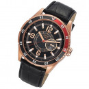 Großhandel Markenuhren: ESPRIT Uhr Varsity  roségold Datum Leder XXL Herren