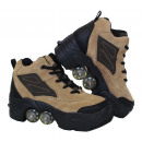 wholesale Sports and Fitness Equipment: Kick Roller Skate Shoes Beige Color