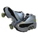 Zapatos Kick  Roller Skate Silver Color