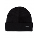 Roadsign Men's knitted hat envelope, black, on