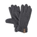 wholesale Gloves: Roadsign Fleece gloves, gray melange / anthracite
