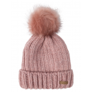 wholesale Headgear: Roadsign Knit hat fake fur bobble, pink, One Si