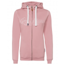 Damen Basic Sweatjacke, rose, S