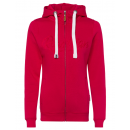 Dames basic sweatjack, rood, S