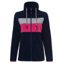 Großhandel Mäntel & Jacken: Damen Fleecejacke Streifen, navy