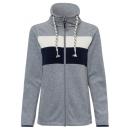 Großhandel Mäntel & Jacken: Damen Fleecejacke Streifen, graumelange