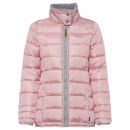 wholesale Coats & Jackets: Ladies Quilted Jacket with Teddy, pink