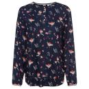 Großhandel Fashion & Accessoires: Damen Bluse Lovely Flowers, navy