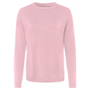 Fijngebreide dames basic sweater, rose