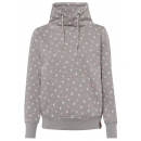 Ladies sweat pullover, allover, gray