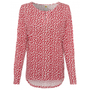 wholesale Home & Living: Ladies blouse little heart, offwhite-red