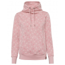 Ladies sweat pullover, allover, pink