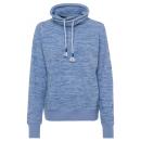 wholesale Coats & Jackets: Ladies fleece jacket melange, light blue