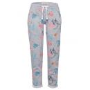 Großhandel Hosen: Damen Joggingpants allover tropical , grau ...