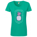 Ladies print shirt pineapple lifestyle , green, s