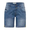 Damen Jeans Bermuda, blue denim, sortierte Größen