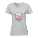 Women T-Shirt RH Travel the world, white, assorted