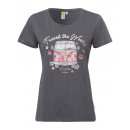 groothandel Kleding & Fashion: Dames T-Shirt RH Travel the world, antraciet, ass