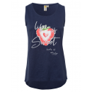 wholesale Fashion & Apparel: Women's top RH Sweet Strawberry , navy, sorted
