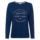 Großhandel Fashion & Accessoires: Damen Langarmshirt Adelaide, marine, sortierte Grö