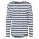 wholesale Shirts & Tops: Ladies long-sleeved shirt striped, 3XL, ...