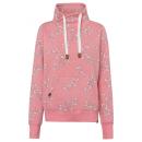 Női cső pulóver Virágok all, S, sötét rózsaszín