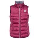 Großhandel Mäntel & Jacken: Damen Steppweste mit Brustbadge, mauve, sortierte