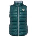 Großhandel Mäntel & Jacken: Damen Steppweste mit Brustbadge, dunkelgrün, sorti