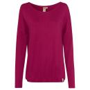 Großhandel Shirts & Tops: Damen Kimono Langarmshirt Struktur, mauve, ...