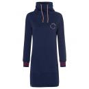 grossiste Vetement et accessoires: Robe sweat femme Love It, marine, tailles assortie