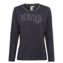 Ladies long-sleeved shirt Beautiful, anthracite, a