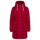 wholesale Coats & Jackets: Ladies quilted jacket long, red, assorted sizes