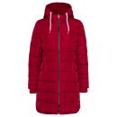 Großhandel Mäntel & Jacken: Damen Steppjacke lang, rot, sortierte Größen