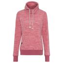 wholesale Pullover & Sweatshirts: Ladies fleece sweater melange, pink melange, sorti
