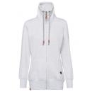 wholesale Fashion & Apparel: Ladies sweat jacket Paradise, snow melange, sort